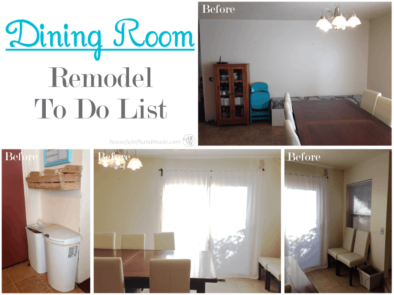 Dining remodel to do list from Houseful of Handmade