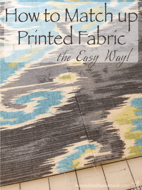 How to Match Up Printed Fabric