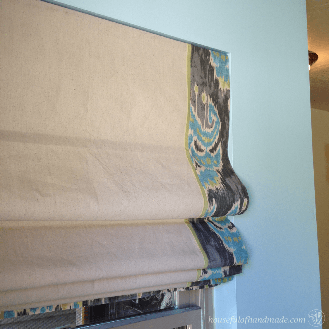 DIY Roman Shades from Mini Blinds- Part 2