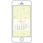Free desktop and smartphone backgrounds for April inspired by spring | Houseful of Handmade