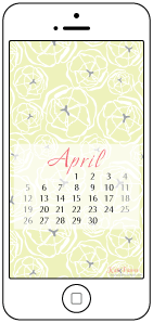 Free Desktop and Smartphone Backgrounds for April from a Houseful of Handmade.
