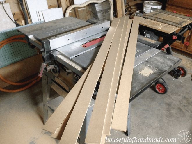 Raw trim pieces for the built in bench seat.