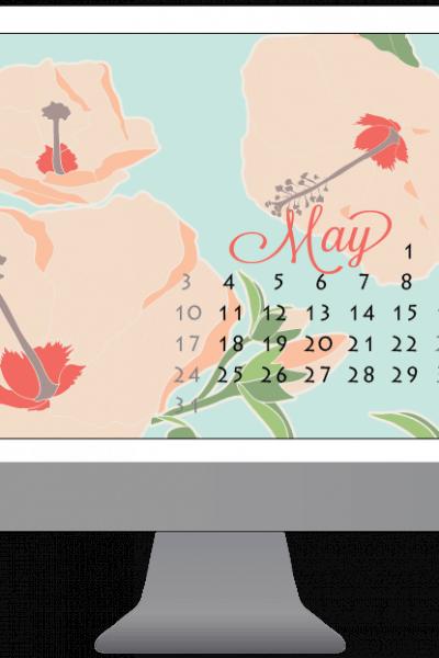 Free desktop & smartphone backgrounds for May | Houseful of Handmade