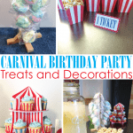 Carnival themed birthday party from Houseful of Handmade