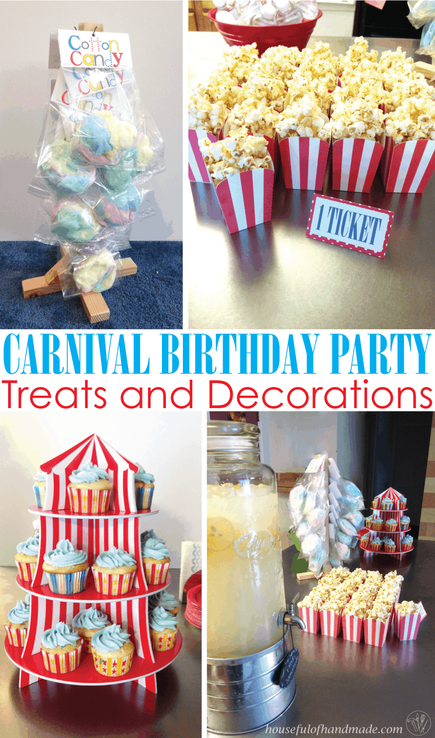 Carnival Birthday Party: Part 2- Treats & Decorations ...