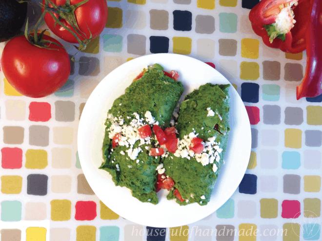 Greek Style Green Omelette