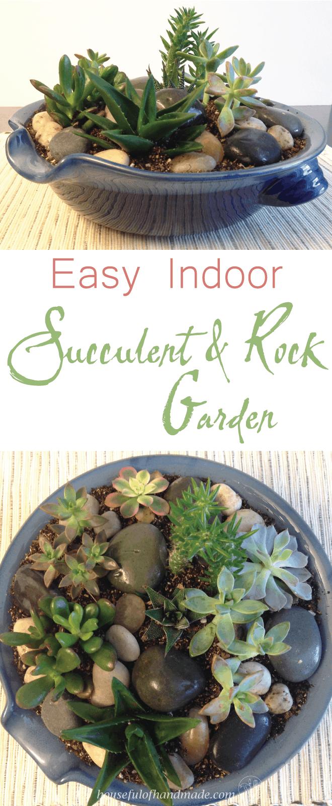 Easy Indoor Succulent Rock Garden Houseful Of Handmade