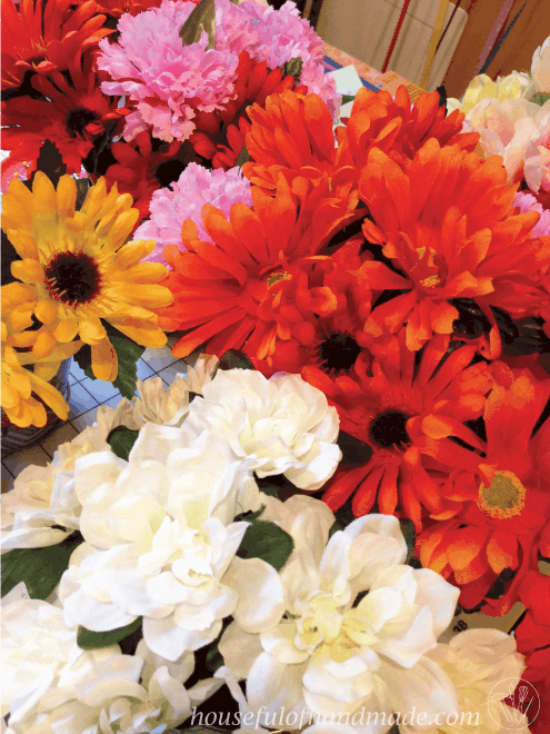 bouquet of beautiful flowers in different colors including white, red, yellow and pink for teachers appreciation week