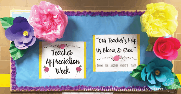 Teacher Appreciation Week from Houseful of Handmade. Great ideas for Teacher Appreciation Week centered around  sc 1 st  a Houseful of Handmade & Teacher Appreciation Week: Our Teachers Help Us Bloom u0026 Grow - a ...