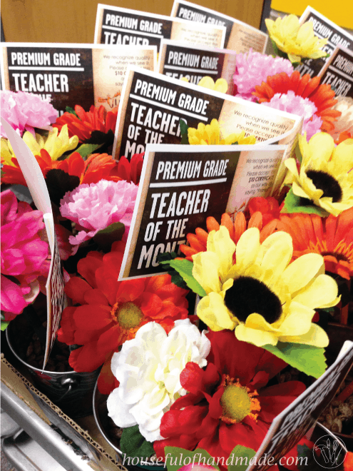 Teacher Appreciation Week from Houseful of Handmade. Great ideas for Teacher Appreciation Week centered around the theme: Our Teachers Help Us Bloom & Grow.