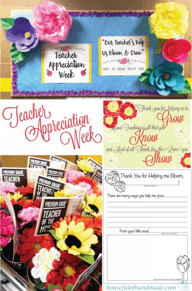 Teacher Appreciation Week gift ideas shown in collage