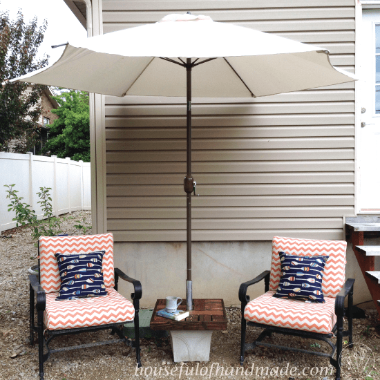 Make Your Own Umbrella Stand Side Table Houseful Of Handmade