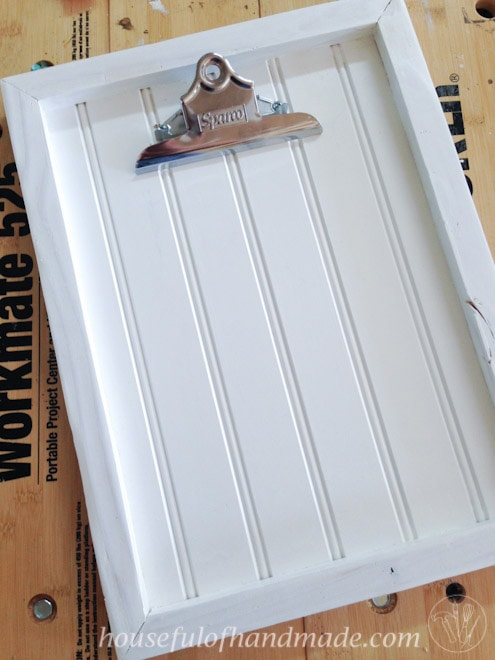 Diy Clipboard Picture Frame With Beadboard Houseful Of Handmade