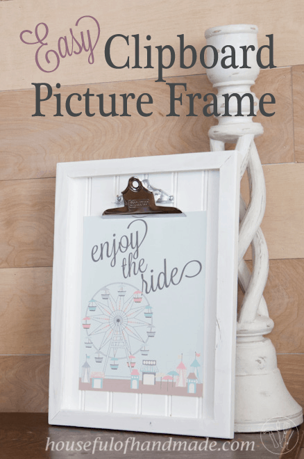 DIY Clipboard Picture Frame with Beadboard - a Houseful of Handmade