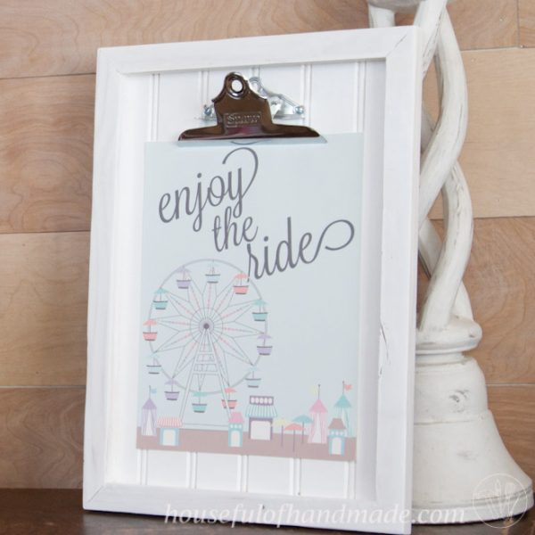 DIY Clipboard Picture Frame with Beadboard