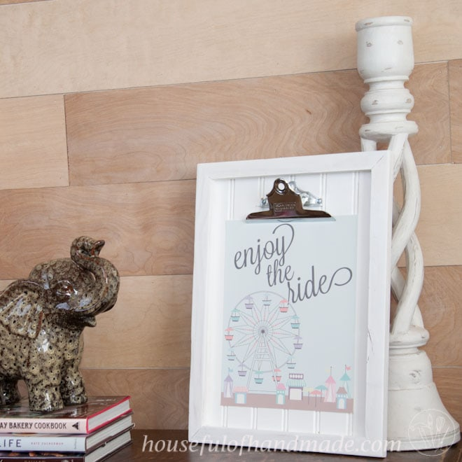 DIY Clipboard Picture Frame with Beadboard - Houseful of Handmade