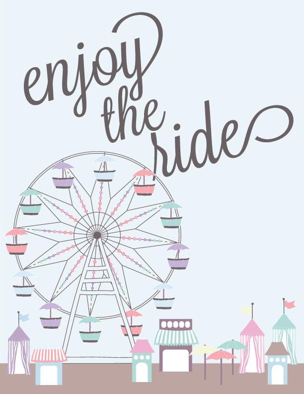 free printable enjoy the ride art houseful of handmade