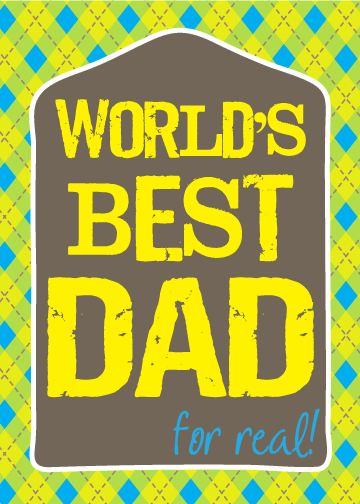 Do you have the best dad ever? Show him with a free printable card for Father's Day. From Houseful of Handmade. #freeprintable