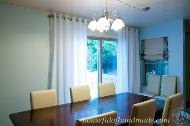 Make curtains with grommets for only $45. Easy to follow tutorial on Houseful of Handmade.