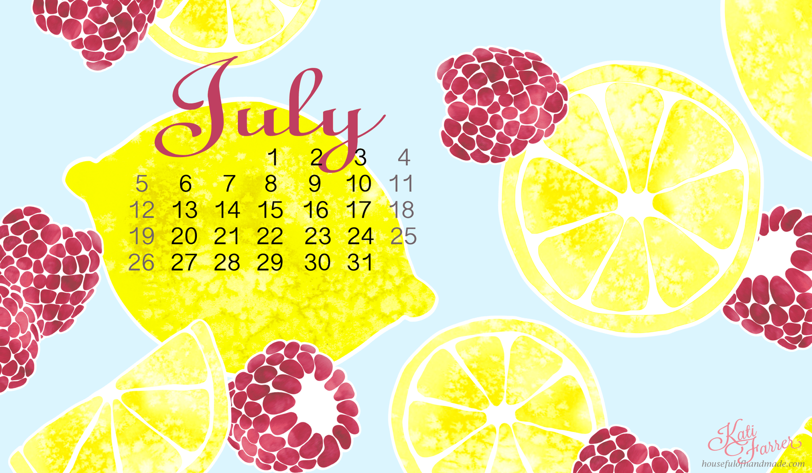 download free backgrounds for your smartphone and computer for july from houseful of handmade