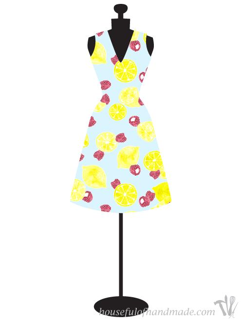 Raspberry lemonade print by Houseful of Handmade.