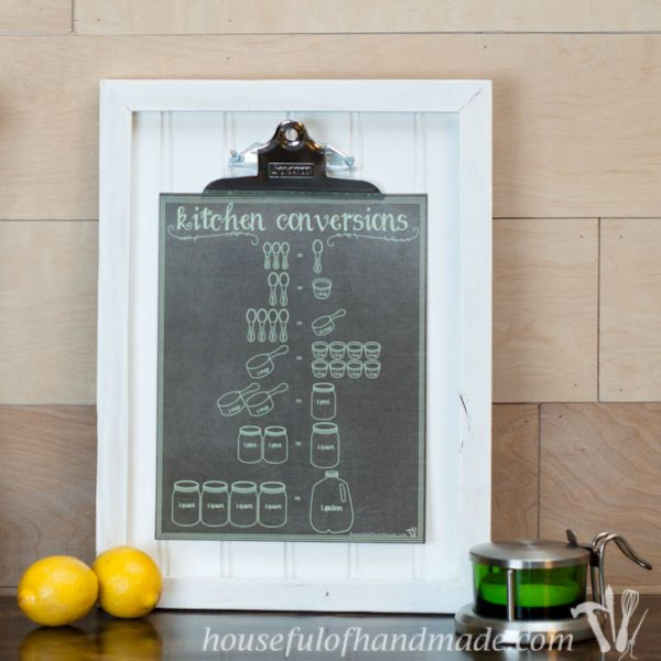 Printable kitchen conversion charts make cooking easier! Four colors to choose from. Download at Housefulofhandmade.com.
