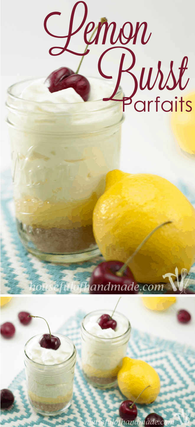 A light-as-air Lemon Burst Parfait is perfect for summer. Recipe from Houseful of Handmade.