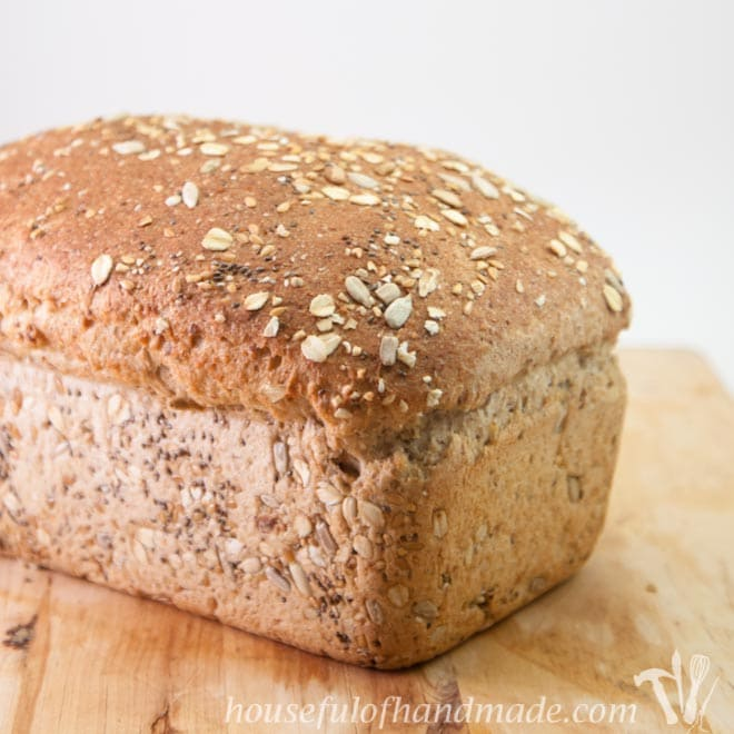 Soft & Delicious Whole Grain Seed Bread