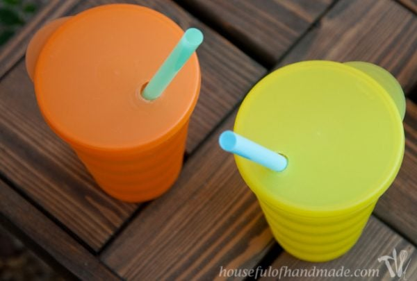 A super simple way to make smoothie cups to-go. From Houseful of Handmade.