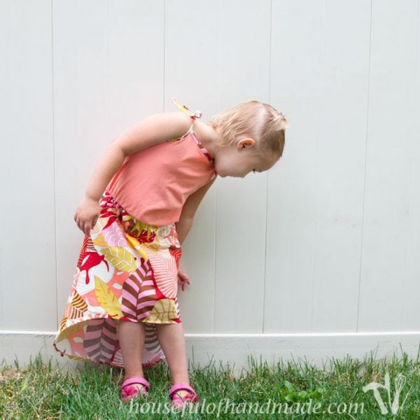 A fun summer play dress with hidden hot shorts. Perfect for playing hard in the heat! Tutorial on Houseful of Handmade.