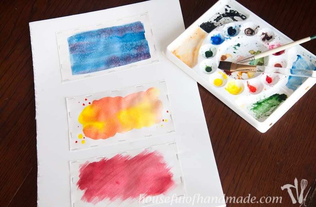 Three watercolor techniques for making fun cards