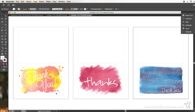 Make cute thank you cards with watercolors