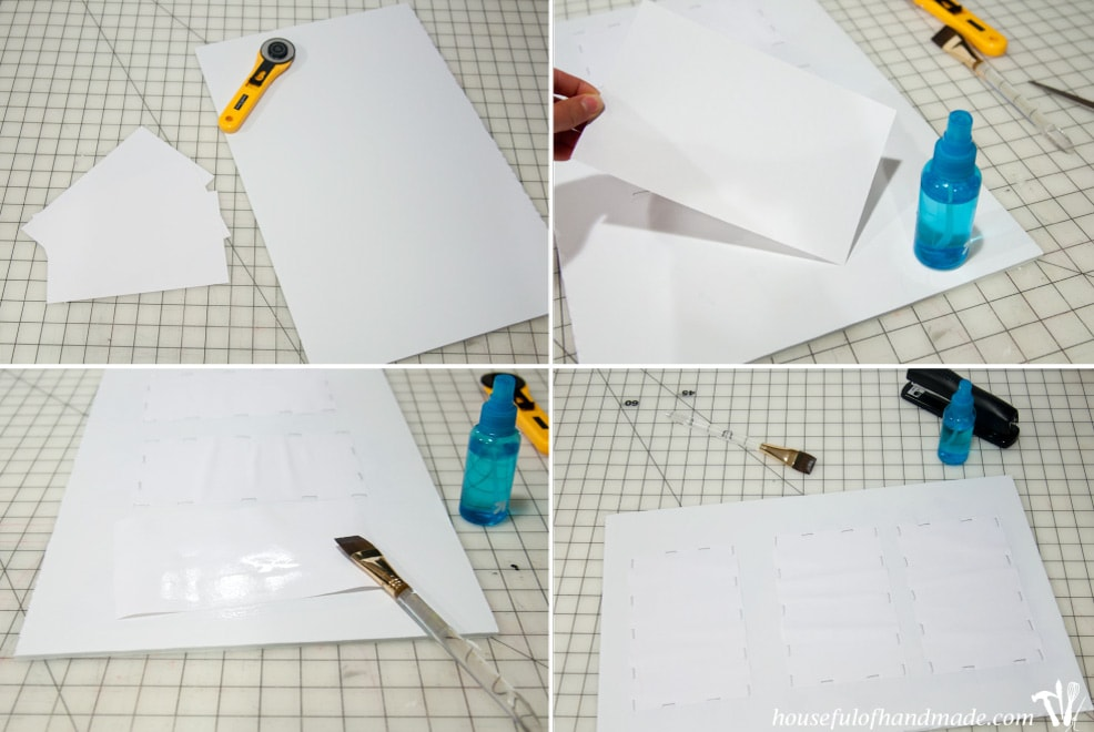 stretching paper for watercolor cards