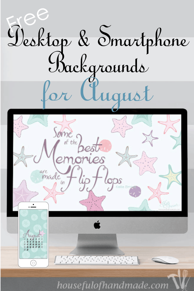 Keep a little bit of summer on your computer and phone with free downloadable backgrounds from Houseful of Handmade.