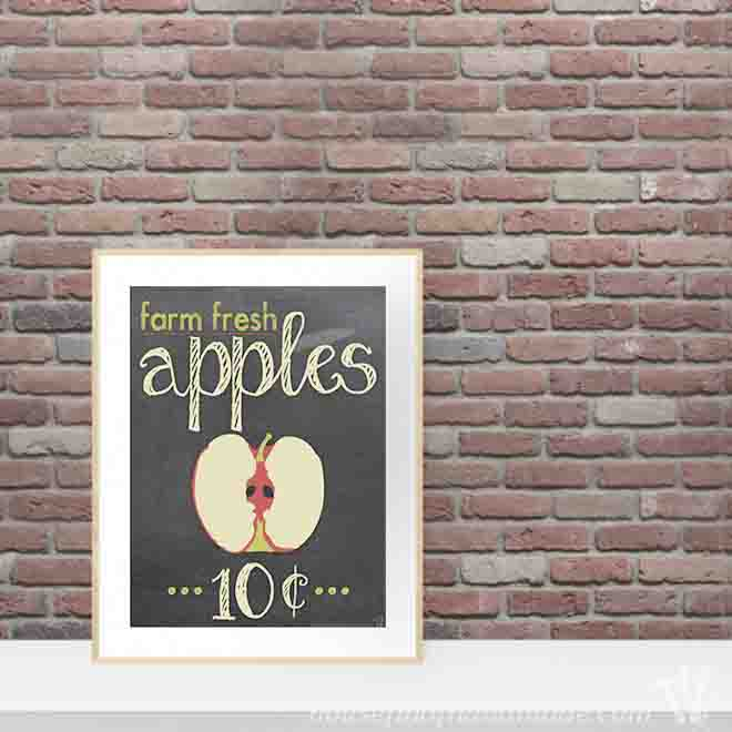 Get ready for the beginning of fall with a fun apple decor printable from Houseful of Handmade.