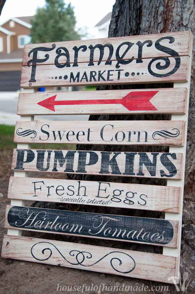 Farmers Market Mini Pallet Sign A Houseful Of Handmade