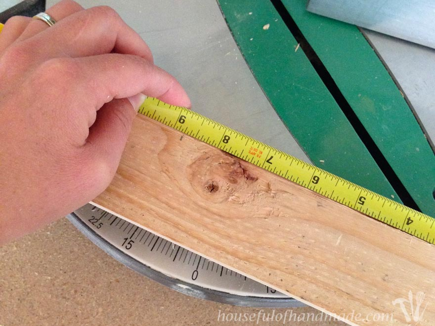 rustic wood shown with measuring tape