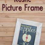 Rustic Picture Frame diy with free apple printables for fall