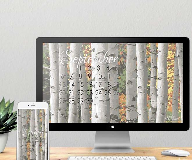 Get ready for fall with these digital backgrounds for your computer and smartphone to download for free from Houseful of Handmade.