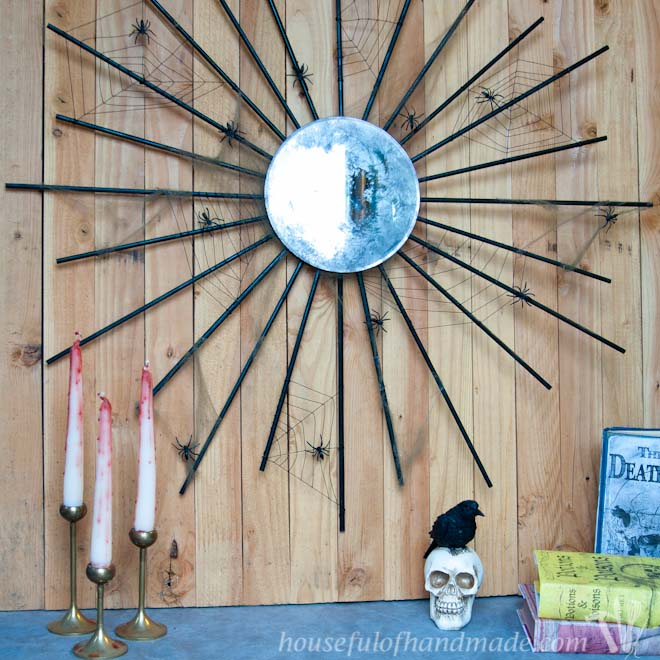 Halloween Sunburst Mirror
