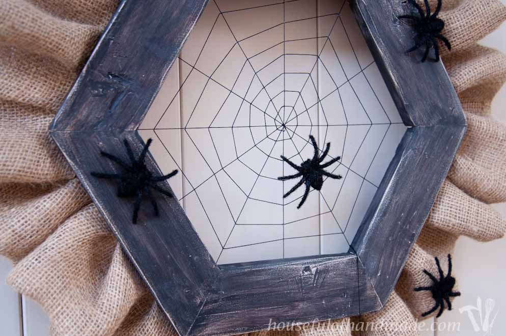 halloween spider web wreath diy