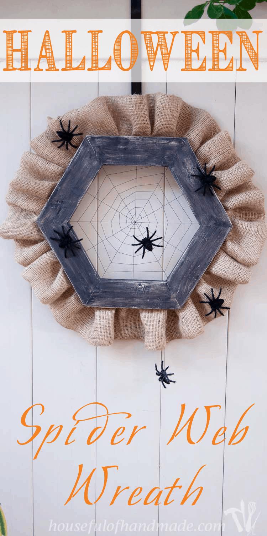 halloween spider web wreath - houseful of handmade