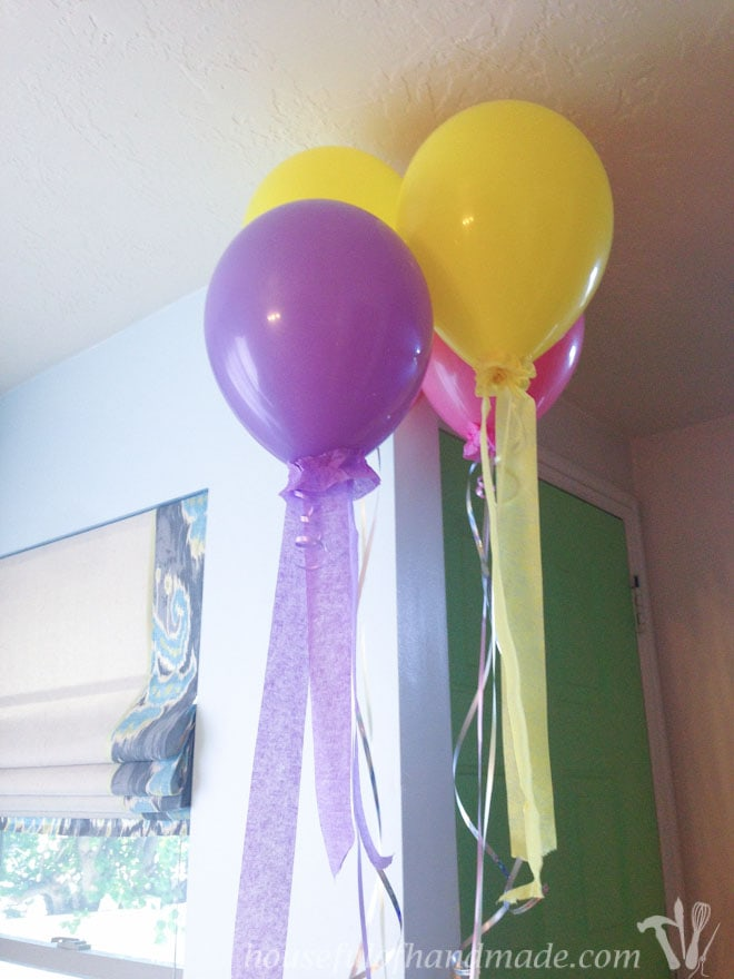 Balloons for a mermaid themed party