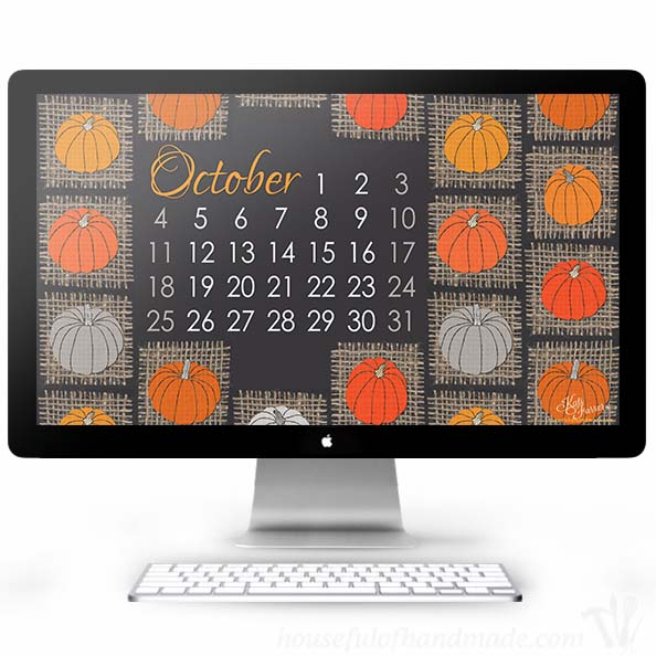 Pumpkin and burlap are the best way to celebrate fall on your smartphone and computer. Download your free backgrounds from housefulofhandmade.com.