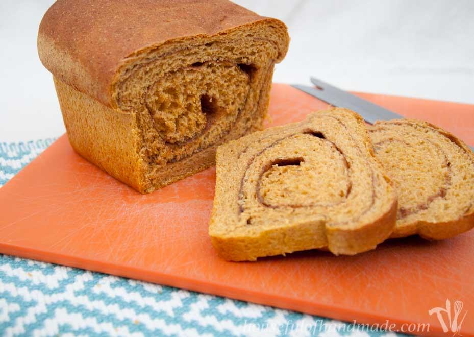Soft & Fluffy Whole Wheat Pumpkin Bread