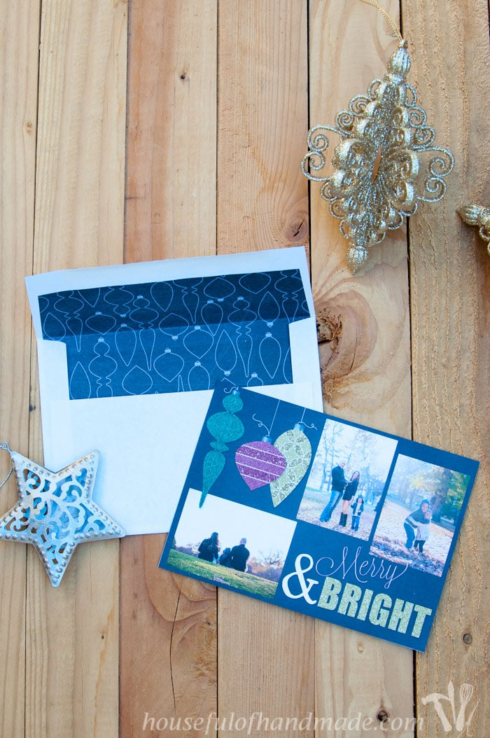 free customizable christmas card template a houseful of handmade. Black Bedroom Furniture Sets. Home Design Ideas