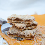 I love pumpkin apple butter, and these quick and easy pumpkin apple butter oatmeal crumb bars are the perfect treat for fall. Recipe from HousefulofHandmade.com