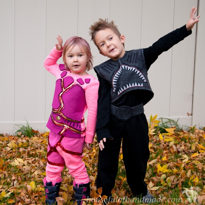 Sharkboy and Lavagirl Halloween Costumes