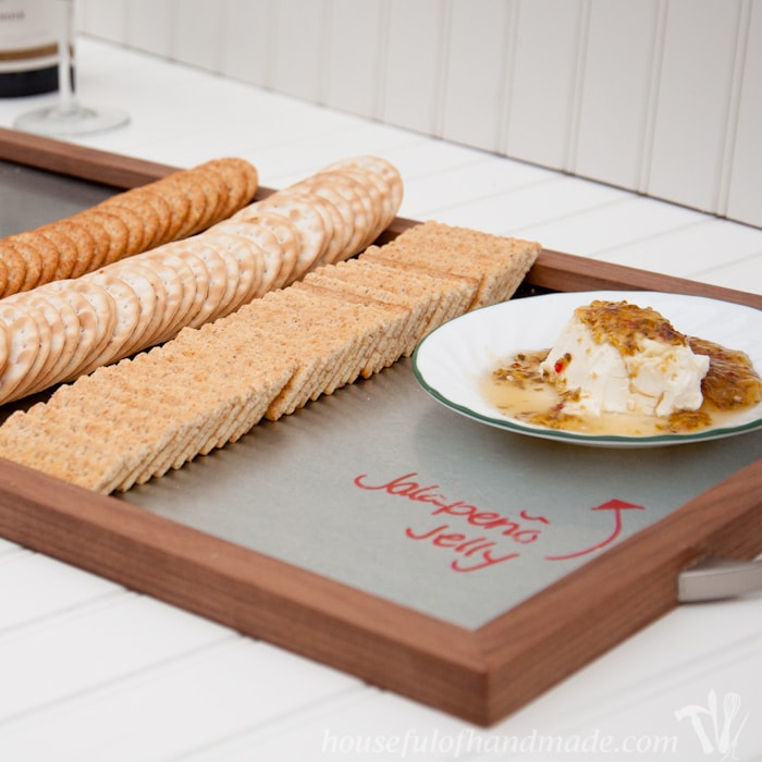 DIY Wood and Steel Serving Tray