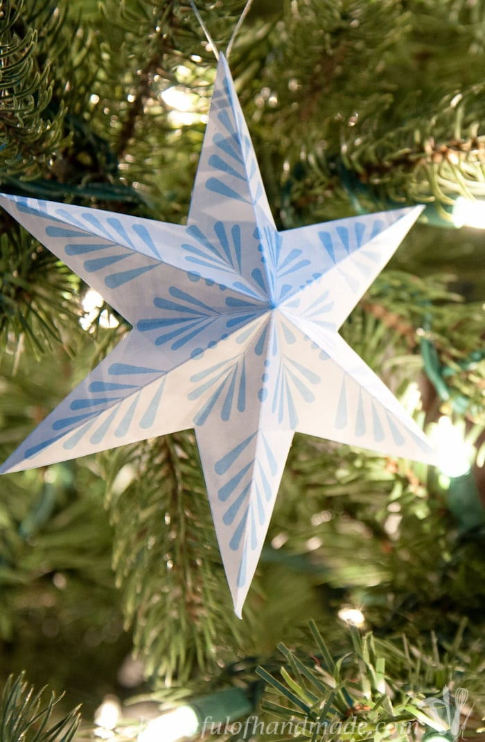 Free Printable 3D Snowflake Star Ornaments - a Houseful of ...